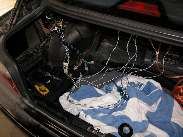 1997 bmw 328is installation installation notes unofficial up front i used an aftermarket bmw wiring harness to connect the factory connector to the empeg i modified this harness by ering rca plugs to the wires